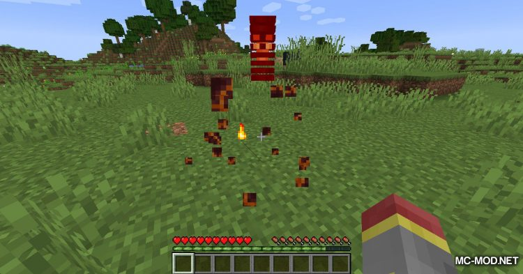 Blood Particles mod for Minecraft (9)