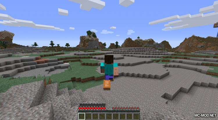 Bunny Boots mod for Minecraft (2)