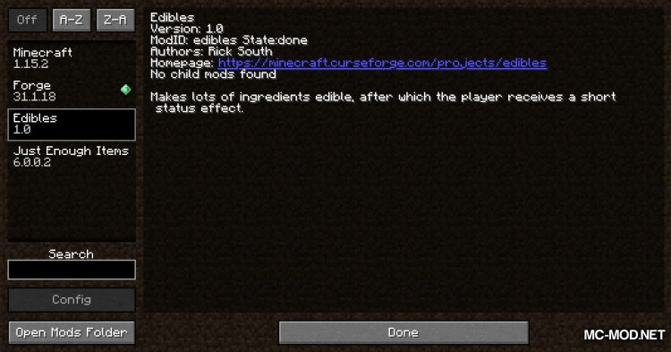 Edibles mod for Minecraft (1)