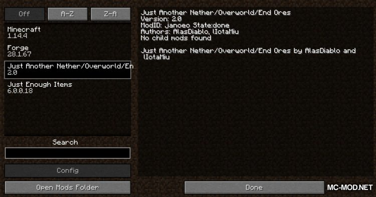 JANOEO mod for Minecraft (1)