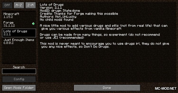 Lots Of Drugs mod for Minecraft (1)