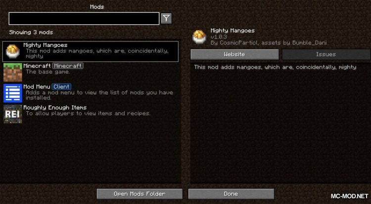 Mighty Mangoes mod for Minecraft (1)