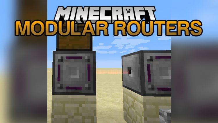 Modular Routers Mod for Minecraft Logo