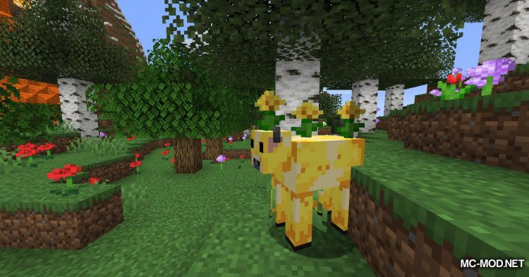 Mooblooms mod for Minecraft (2)