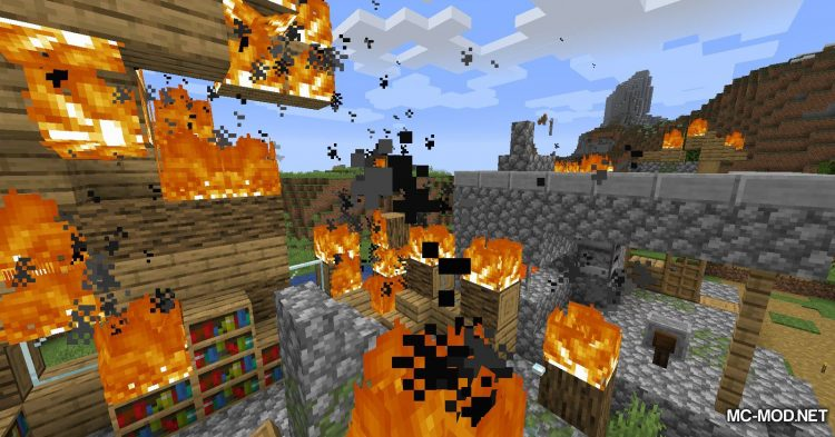 Realistic Fire Spread mod for Minecraft (13)