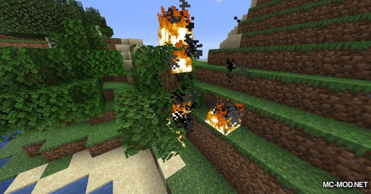 Realistic Fire Spread mod for Minecraft (6)