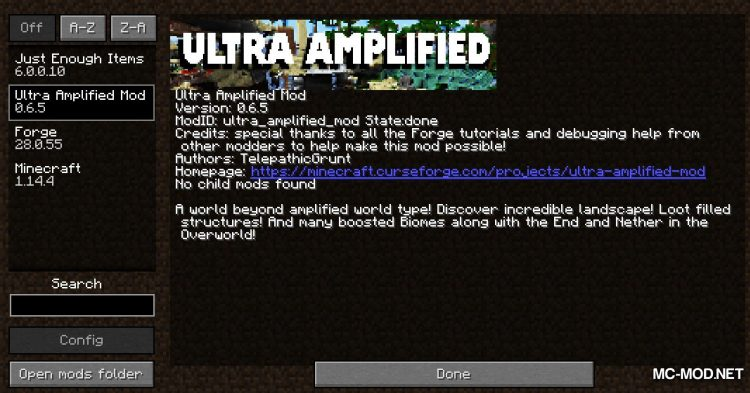 Ultra Amplified mod for Minecraft (1)